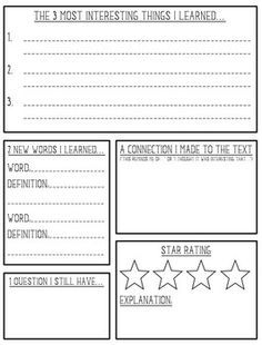 non fiction book review template