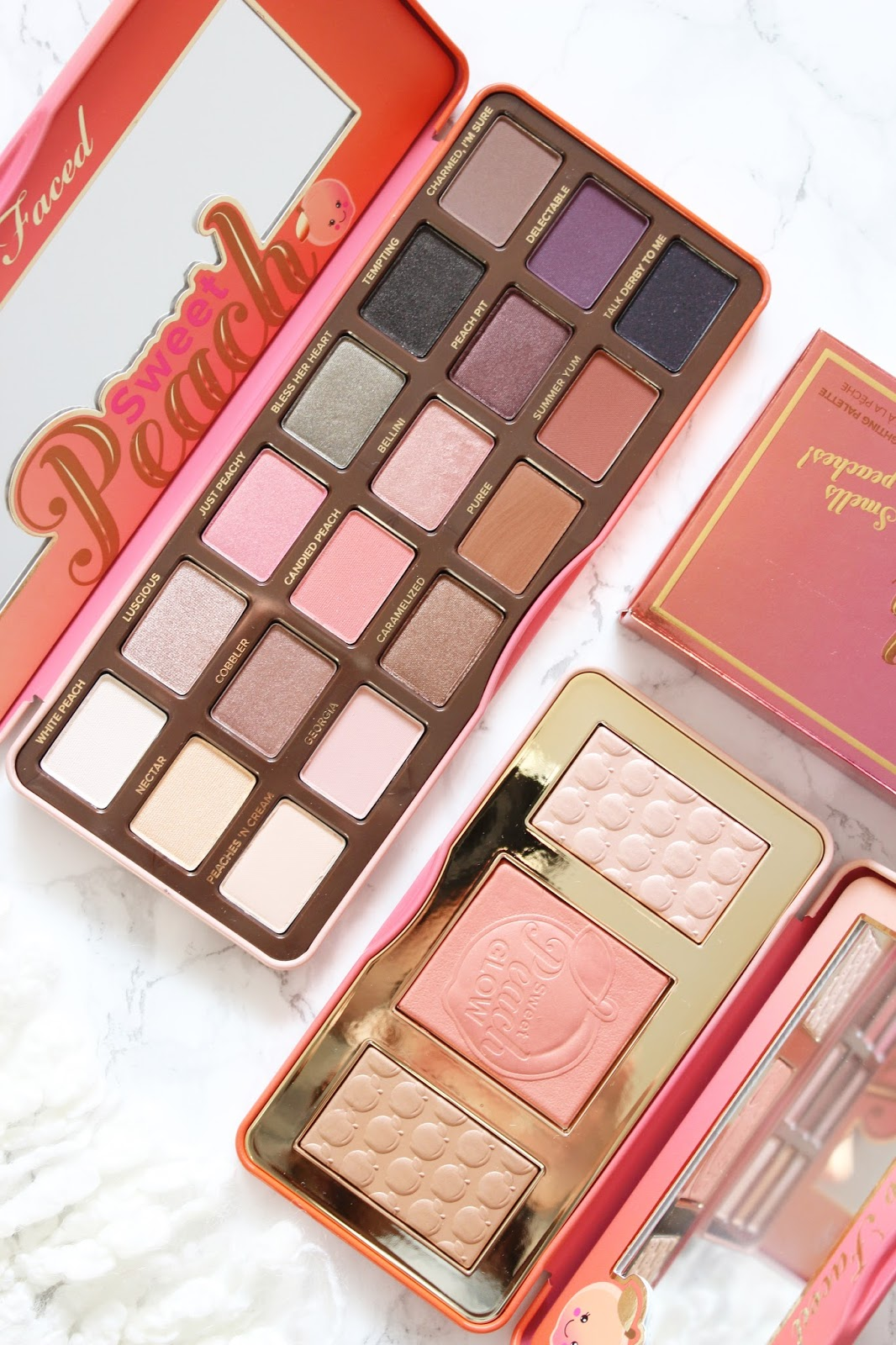 too faced sweet peach eyeshadow palette review