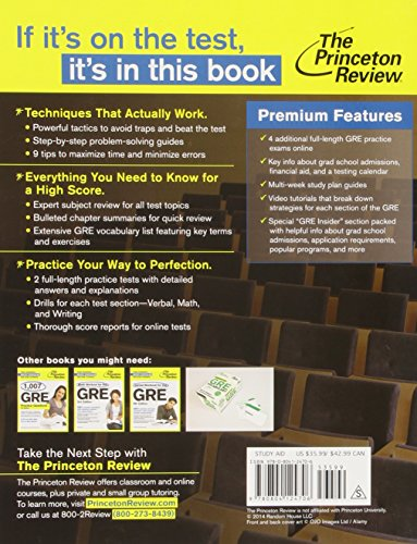 princeton review gre online practice test