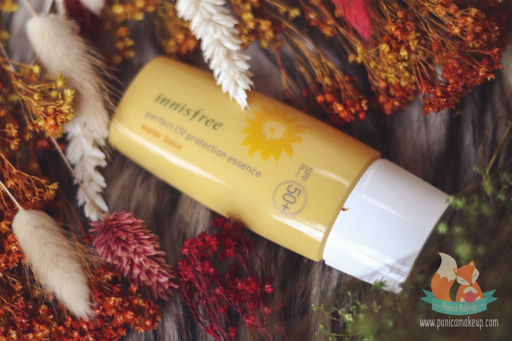 innisfree perfect uv protection essence water base review