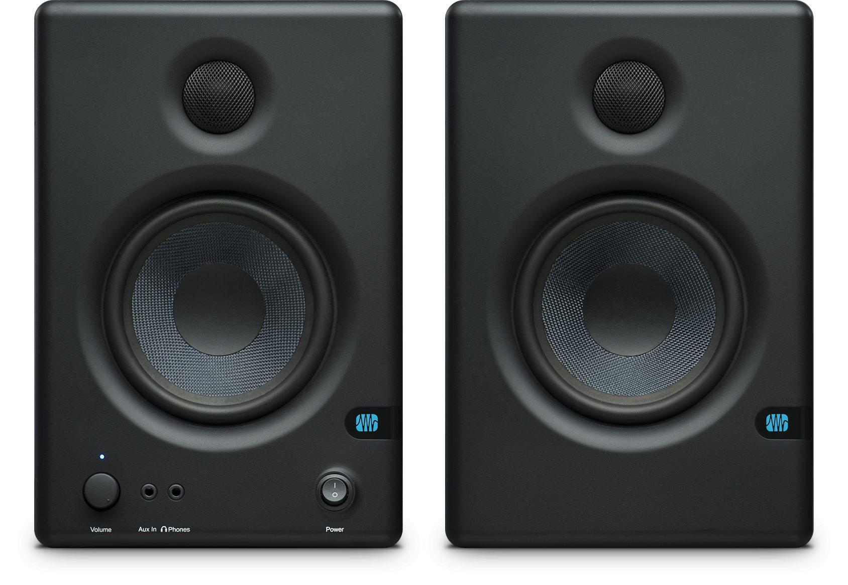 presonus eris e4 5 2 way powered studio monitors review