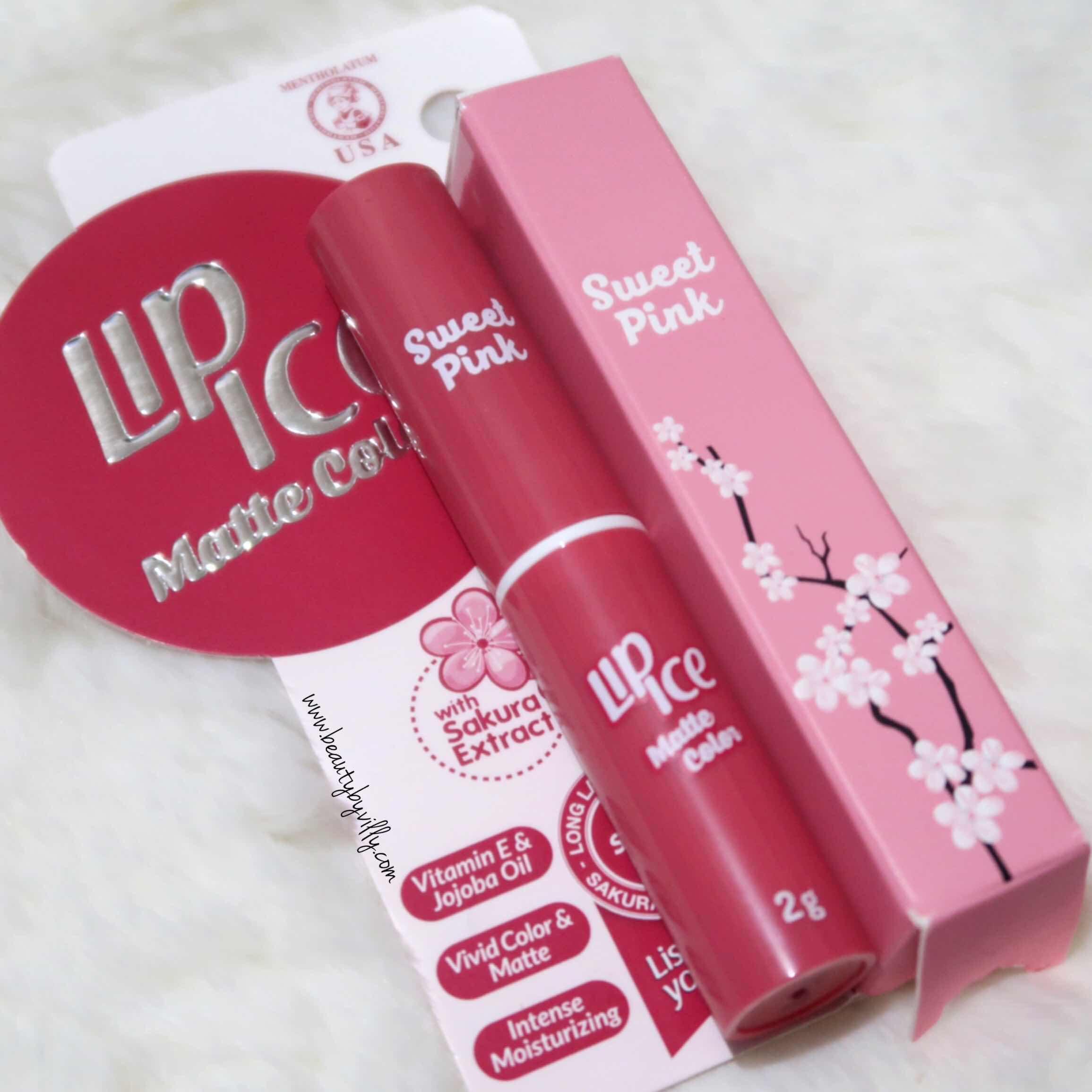 lip ice matte cream review