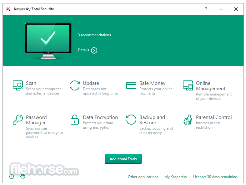 kaspersky pure 3.0 review
