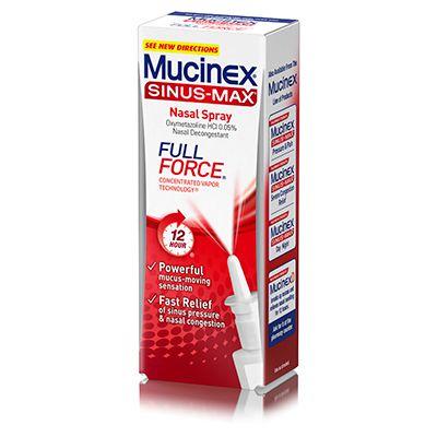 mucinex sinus max nasal spray reviews