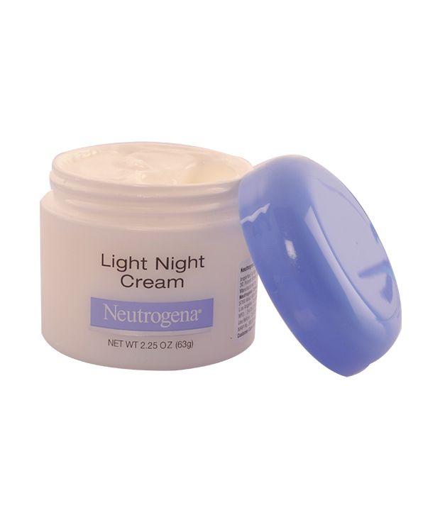 neutrogena light night cream review